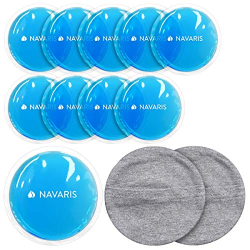 Navaris Set de 10 compresas de gel - Almohadillas para calor