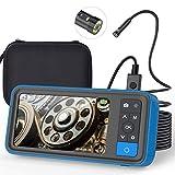 Cámara de endoscopio de Doble Lente, cámara de inspección de boroscopio de Doble cámara de 1080p con 4.5'IPS Monitor-16FT, luz de Serpiente de Serpiente de Serpiente, luz de Anillo LED