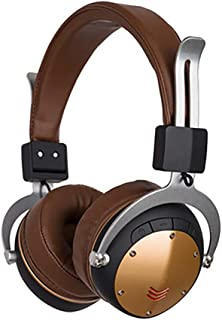 Bluetooth Headphones Wireless, Over Ear Headset V5.0 with Microphone,Support Tf Card MP3 Mode,Suitable for Home/Travel/Work/Sports,Brown