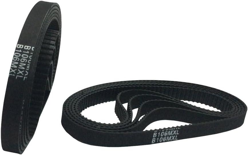 BEMONOC B100MXL//80MXL Timing Belt 100 Teeth 6mm Width for 3D Printer Accessories Closed Annular Synchronous Belt 10pcs//Pack