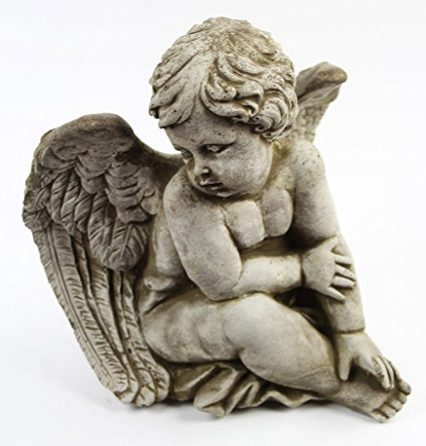 Sitting-Angel-Concrete-Garden-Statue