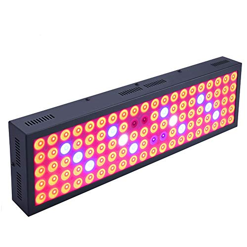 600W Grow Lights for Indoor Plants Full Spectrum LED Growing Lamp with Powerful Cooling System Plant Lights for Greenhouse Hydroponic Plants(100PCS LEDs)