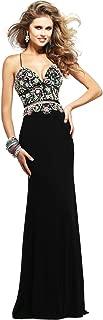 Faviana Womens S7718 Beaded Spaghetti Strap Prom Evening Dress