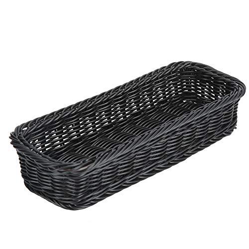 ZHHZ Tenedor de cesta – Innovadora cesta de almacenamiento para palillos restaurante escritorio vajilla tenedor cuchara titular negro tamaño M 280 x 110 x 50 mm