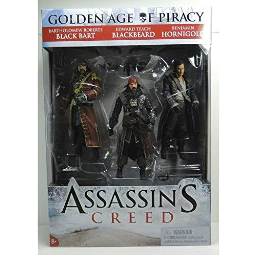 YYBB Assassins Creed IV: Black Flag - Piraten-DREI-Personen-Klage 5-Zoll-Action-Figur Sammler PVC Statue Teen Spiele Geschenke Spielzeug-Modell Home Decoration Figurines