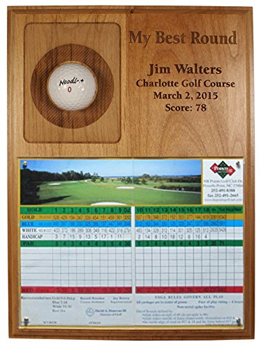 Eureka Golf Products My Best Round Laser Etched Plaque