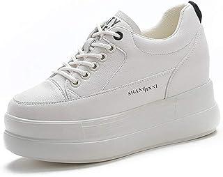 [トブイシューズ] 厚底スニーカー ローカット プラットフォーム ホワイト 大きいサイズ レディース靴 ブーツ コスプレ 厚底スニーカー レースアップ 厚底 スニーカー 約4cm 厚底 脚長効果 無地 白 ホワイト