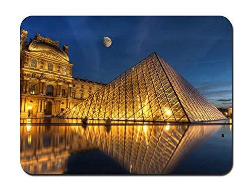 W25cm X L30cm Almohadilla para Ratón Francia ILE-De-France París Louvre cómoda Almohadilla de viscoelástica Antideslizante