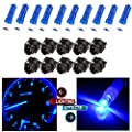 CCIYU 10x T5 37 74 Wedge SMD Led Bulbs Instrument Cluster Light Panel Gauge Lamp + 10x Twist Sockets 17 37 70 Instrument Panel Cluster Plug Lamp Dash Light Bulb T5