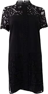 Women's Striped Floral Lace Dress