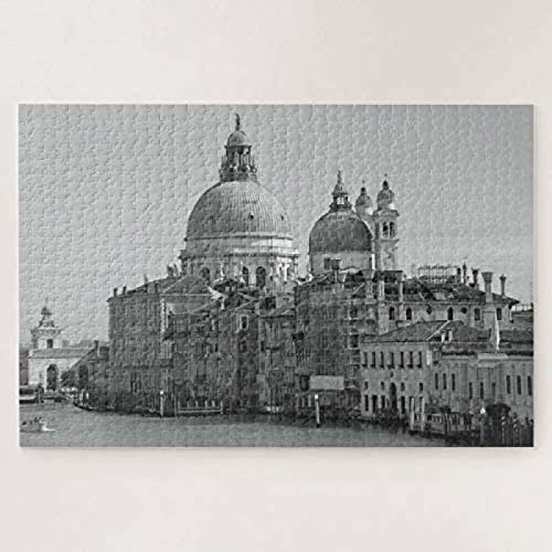 Black White Vintage Saint Mark Venice Canal Travel 500-piece-puzzle Fashion Challenging Jigsaws Fun Games For Boys To Enjoy A Great Fun