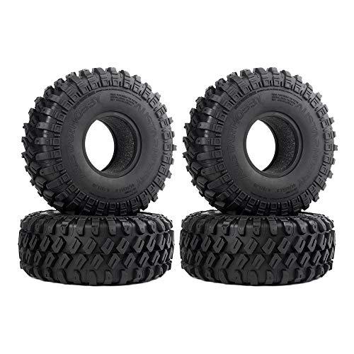 INJORA 4 Stücke 1,9 RC Crawler Reifen, Reifen Set für 1:10 RC Rock Crawler Axial SCX10 SCX10 II 90046 90047 SCX10 III AXI03007 Traxxas TRX-4 TRX4