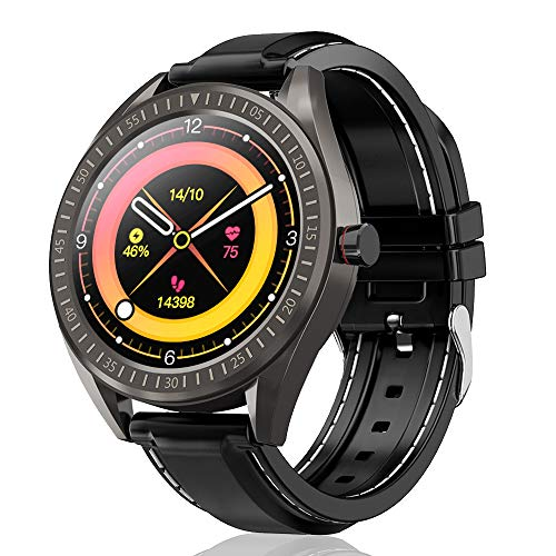 COULAX Smart Watch, 1.4' Touch Screen Smartwatch, Fitness Tracker, Activity Tracker with Heart Rate Monitor, IP68...