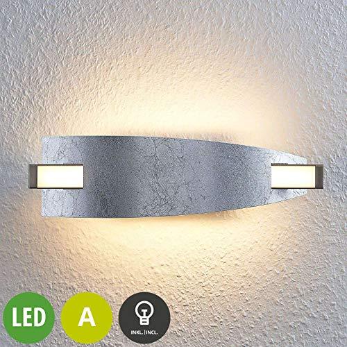 Lucande LED Wandleuchte, Wandlampe Innen 'Marija' (Modern) in Chrom aus Metall u.a. für Wohnzimmer & Esszimmer (A, inkl. Leuchtmittel) - Wandstrahler, Wandbeleuchtung Schlafzimmer/Wohnzimmer