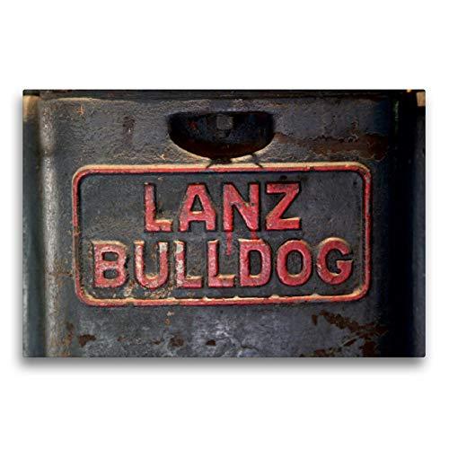 Premium Textil-Leinwand 75 x 50 cm Quer-Format Traktoren - Embleme: Lanz Bulldog   Wandbild, HD-Bild auf Keilrahmen, Fertigbild auf hochwertigem Vlies, Leinwanddruck von Dirk Ehrentraut