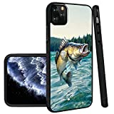 Deal Market LLC -Bass Fishing Fish Hunting-Hard Rubber Phone case Compatible with Apple iPhone 12 Pro Max (2020 Model)
