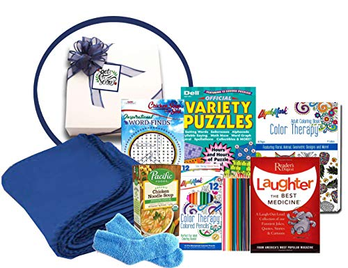 Deluxe Laughter is The Best Medicine Get Well Soon Basket - Get Well Gifts for Women After Surgery - Get Well Gifts for Women