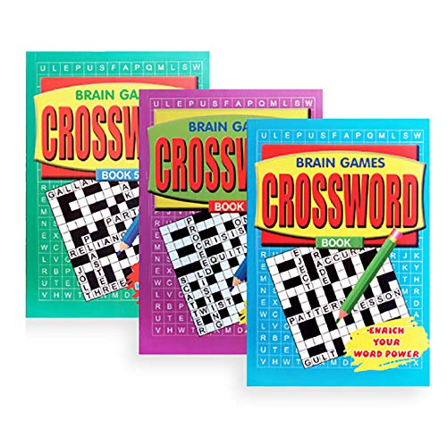 PACK OF 3 - A5 Crossword Book