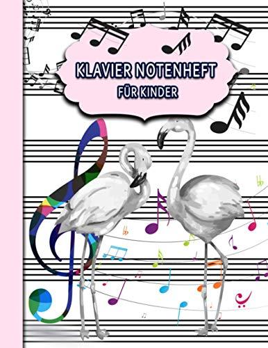 Klavier Notenheft für Kinder: Blanko Notenblock/ 6 Notensysteme pro Seite/ 50 Seiten/ Perfekt zum Schreiben von Noten oder für Kinder im Musikunterricht.