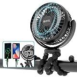 Best Travel Fans - Portable Stroller Fan, 42H 10000mAh Battery Operated Fan Review