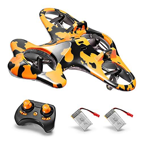 SainSmart Jr. Mini Drone per Bambini e Principianti, Quadricottero RC con 2 Batterie, 3 velocità 3D Flip, Decollo/Atterraggio a Un Tasto, Nero