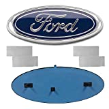 Carhome01 2004-2014 F150 Front Grille Tailgate Emblem for Ford, Oval 9'X3.5' Dark Blue Decal Badge Nameplate Fit for 04-14 F250 F350, 11-14 Edge, 11-16 Explorer, 06-11 Ranger (Partial Update)