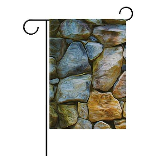 Jstel Maison Peinture murale Pierre Tissu Polyester drapeaux de jardin Lovely et résistant aux moisissures personnalisés imperméables de 71,1 x 101,6 cm