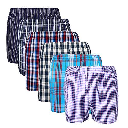 XIAOYAO Herren Boxershorts,Best Basics Boxershorts Hipster American Style Boxer Unterhosen, 6er Pack (XXL, Mehrfarbig (Business))
