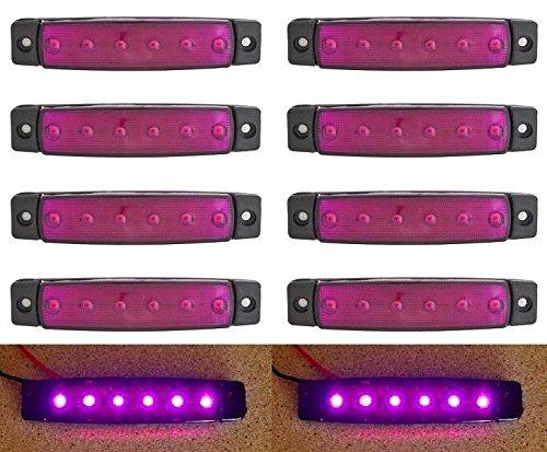 Lot de 10 violet 6 LED marqueur contour lumière latérale pour camion remorque caravane