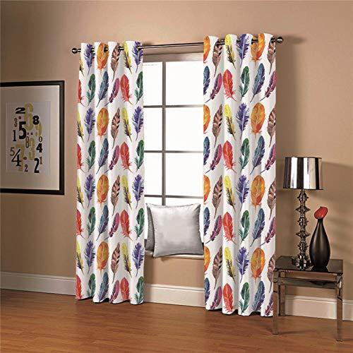 cortinas dormitorio plumas