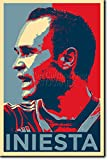 TPCK Andres Iniesta Kunstdruck (Obama Hope Parodie)