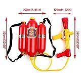 Kinder Feuerwehrmann Rucksack Düse Wasserpistole Strand Outdoor Spielzeug Feuerlöscher Soaker