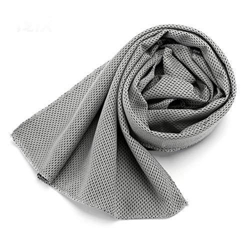 90 * 30cm Asciugamano da viaggio Asciugamano da spiaggia ad asciugatura rapida Asciugamano da palestra in microfibra per yoga Palestra da viaggio Campeggio Golf Calcio Sport all'aria aperta-Grey