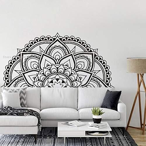 fdgdfgd Half Mandala Flower Wandaufkleber Bedside Decoration Kopfteil Vinyl Decal Cool Style Wallpaper Mandala Art Murals