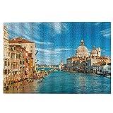 Rompecabezas Rompecabezas, edificio de agua ciudad Venecia 1000 piezas rompecabezas de madera, regalo creativo, clásico juego educativo juguetes para adultos y familias