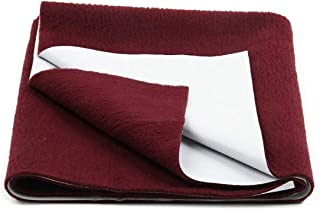 """AVI Presents New Born Baby Dry Sheet Completely Water Proof and Reusable Mat/Baby Sleeping Mat/Bed Protector/Absorbent Dry Sheets (20""""x28""""inch) -Maroon"""