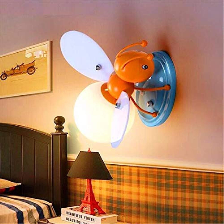 Kunst-Lampen Retrohngelampe Deckenleuchte Led Kind Biene Wandleuchte Perfekt Für Bar Restaurant Café Wohnzimmer Schlafzimmer Korridor Balkon, Blaue Unterseite, Warmes Licht [Energieklasse A +++]