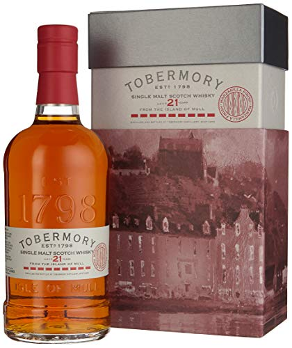 Tobermory 21 Years Old Manzanilla Finish Whiskey mit Geschenkverpackung (1 x 0.7 l)