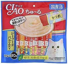 チャオ (CIAO) 猫用おやつ ちゅ~る シーフードバラエティ 14グラム (x 20)