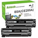 Aztech Compatible Toner Cartridge Replacement for HP 85A CE285A P1102w Toner Cartridge Used for HP Laserjet Pro P1102w M1212nf MFP P1102 P1109w M1217nfw 1102w Printer Toner Cartridge (Black, 2-Pack)