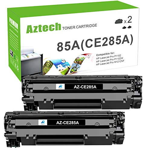 Aztech Compatible Toner Cartridge Replacement for HP 85A CE285A P1102w Toner Cartridge Used for HP Laserjet Pro P1102w M1212nf MFP P1102 P1109w M1217nfw MF3010 1102w Toner Cartridge (Black, 2-Pack)