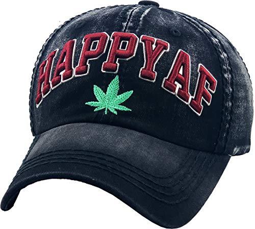 KBVT-762 BLK Marijuana Leaf Collection Dad Hat Baseball Cap Polo Style Adjustable