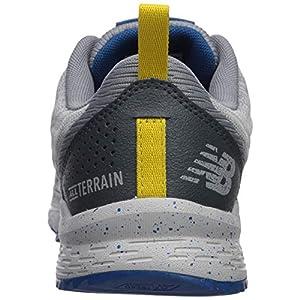 New Balance Men's Nitrel V3 Trail Running Shoe, Grey/Blue, 12 M US