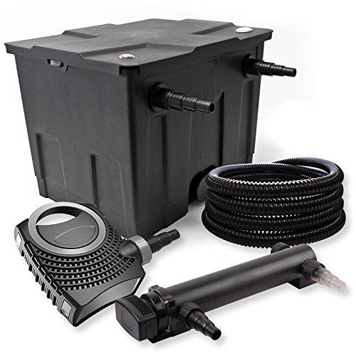 SunSun Kit de Filtration de Bassin 12000l 36W UVC 3. Stérilisateur NEO8000 70W Pompe Tuyau