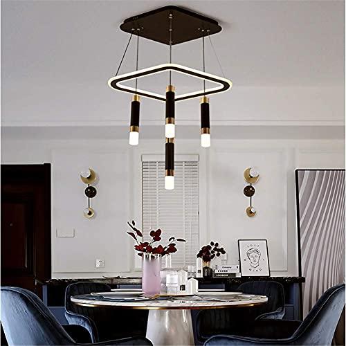Luces colgantes LED modernas, nueva lámpara colgante suspendida para pasillo con personalidad nórdica con atenuación de tres colores (incluye 1 lámpara colgante de diamantes y 5 colgantes), E, 110 V