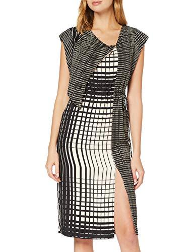 Sisley Dress Vestito, Stampato 74j, 50 Donna