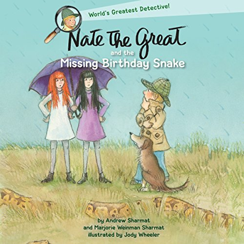 Nate the Great and the Missing Birthday Snake audiobook cover art