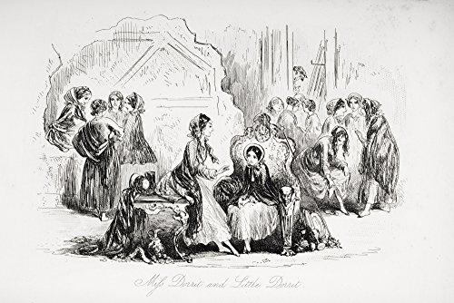 ThinkandPlay Miss Dorrit & Little Dorrit. Ilustração de The Charles Dickens Novel Little Dorrit de H.K. Browne Known As Phiz Poster Print44; 46,5 x 30,5 cm