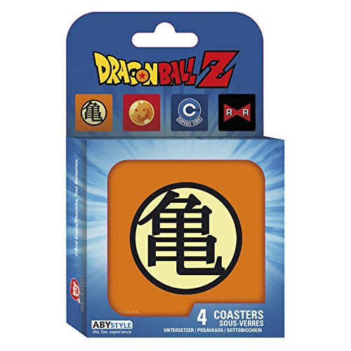 ABYstyle – Marvel Dragon Ball Set 4 Untersetzer Symbols unisex-adult, abycos003