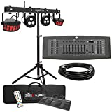 Chauvet DJ GigBar Flex Pack-n-Go Effect Lighting System with American DJ DMX Controller & Ultimate Support Stand Package